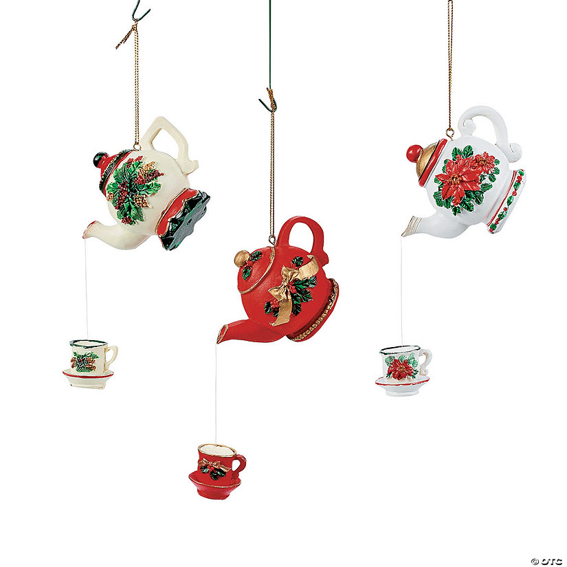 Teapot Christmas Ornaments - Teapot Christmas Ornaments - Discontinued
