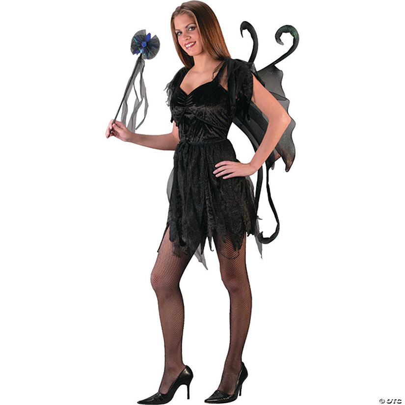Teen Girl's Midnight Fairy Black Costume