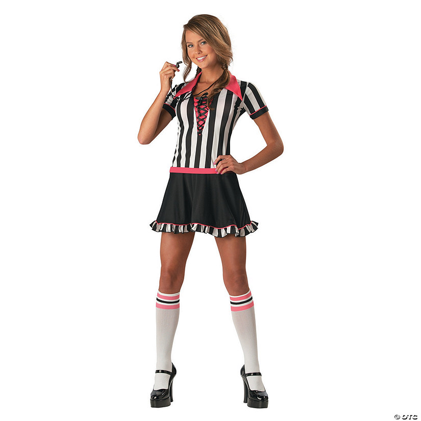 Teen Girl's Referee Costume