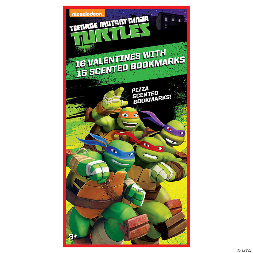 Teenage Mutant Ninja Turtles<sup>&#174;</sup> Valentines with Scented Bookmarks Image Thumbnail