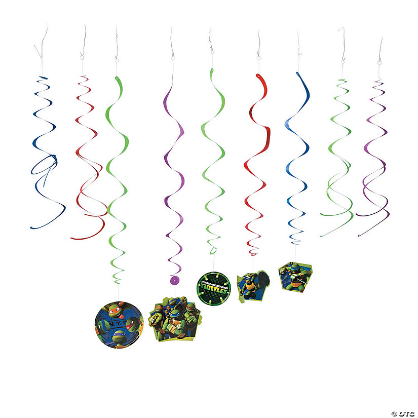 Teenage Mutant Ninja Turtles Swirl Decorations