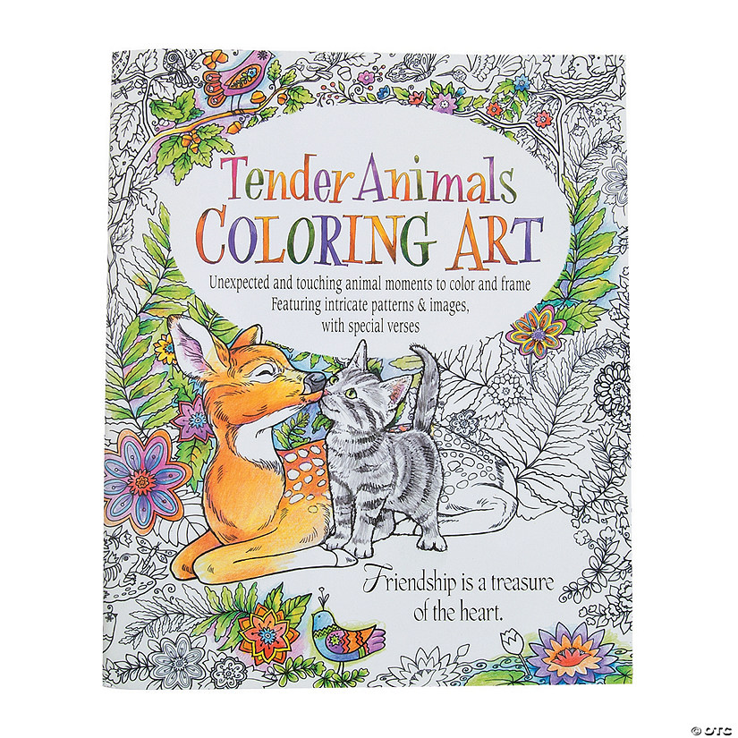 Tender Animals Adult Coloring Book