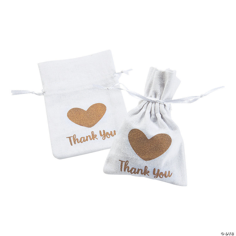 Thank You Drawstring Treat Bags