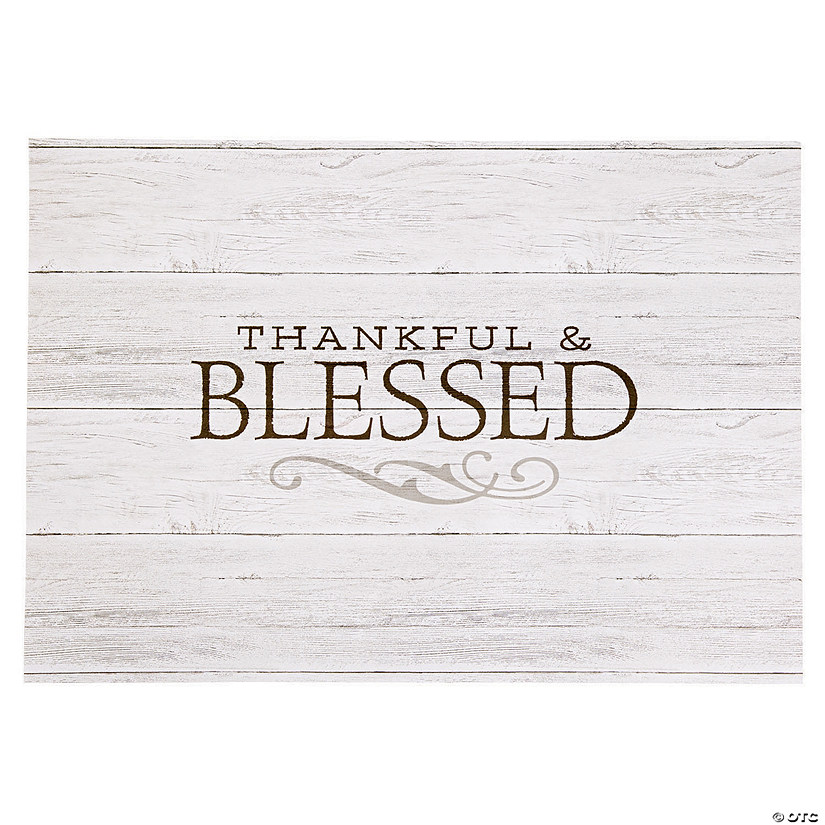 Thankful & Blessed Paper Placemats Audio Thumbnail