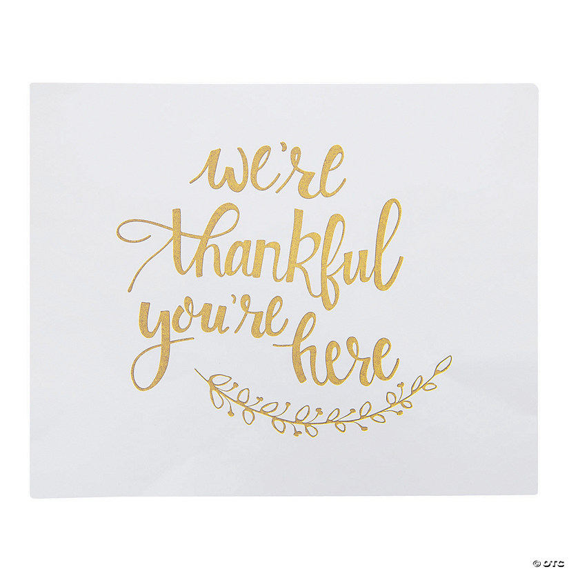 Thankful Paper Placemats Audio Thumbnail