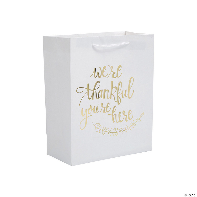 Thankful White with Gold Kraft Gift Bags Audio Thumbnail