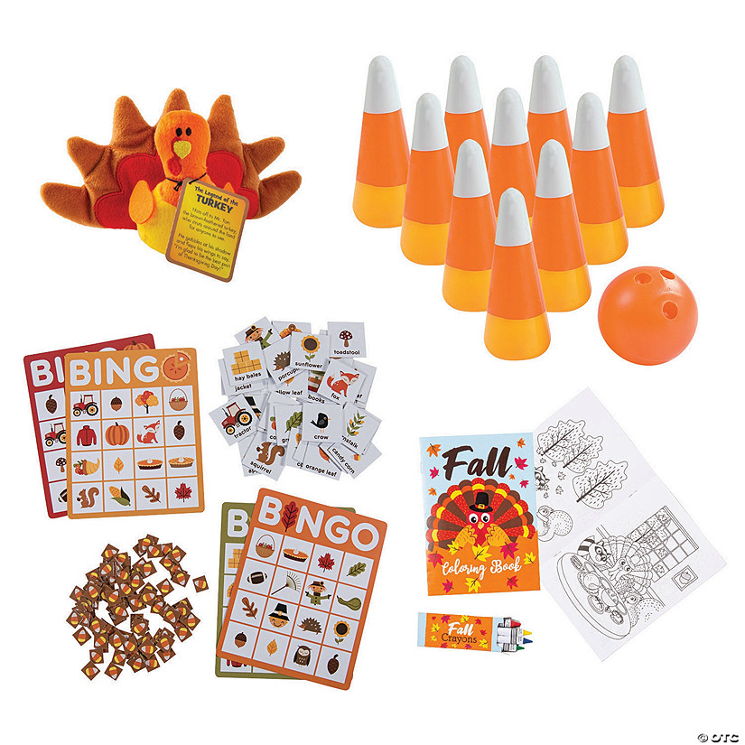 Thanksgiving Activity Kit for 12 Image Thumbnail