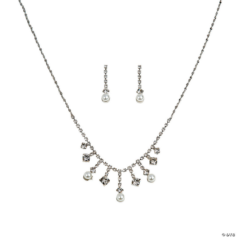 The Caroline Rhinestone Jewelry Set Image Thumbnail