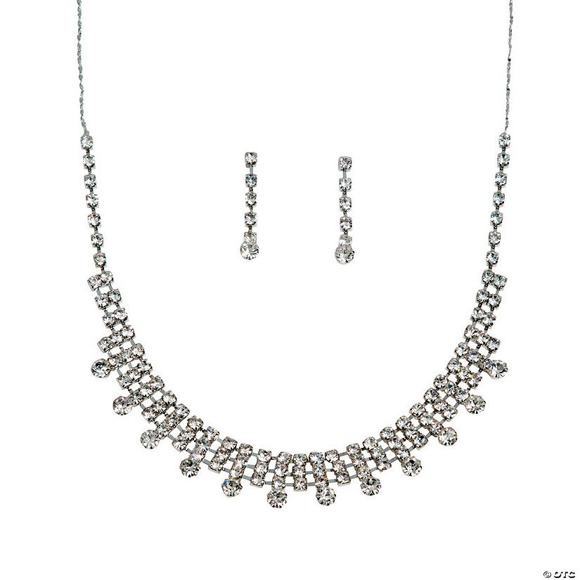 The Elizabeth Rhinestone Jewelry Set Image Thumbnail