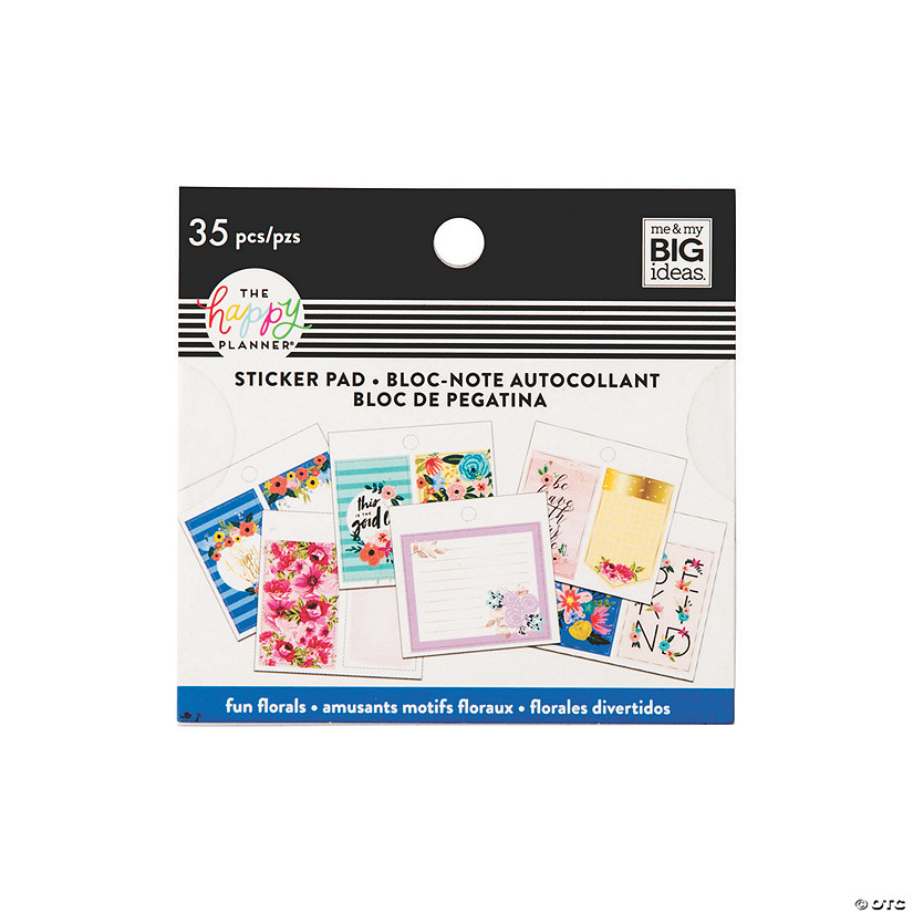 The Happy Planner<sup>&#174;</sup> Fun Florals Tiny Sticker Pad Image Thumbnail