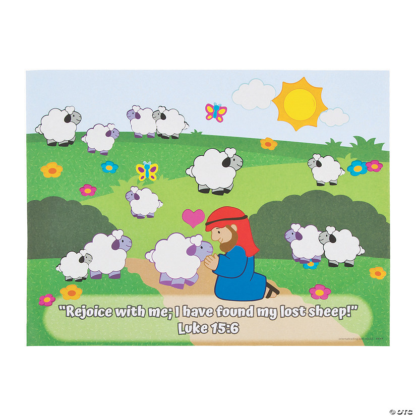 The Lost Sheep Sticker Scenes