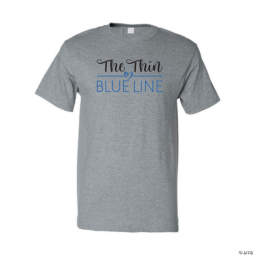 The Thin Blue Line Adult's T-Shirt Image Thumbnail