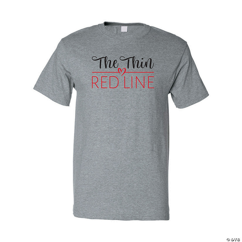 The Thin Red Line Adult's T-Shirt Image Thumbnail