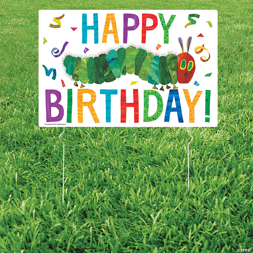 The Very Hungry Caterpillar™ Birthday Yard Sign Image Thumbnail