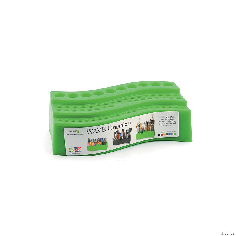 The Wave Paintbrush Holder Green