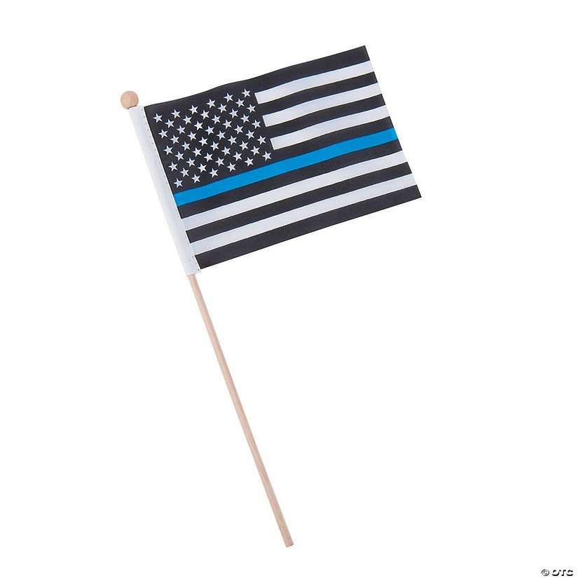 "Thin Blue Line Small Flags - 6"" x 11"" Audio Thumbnail"