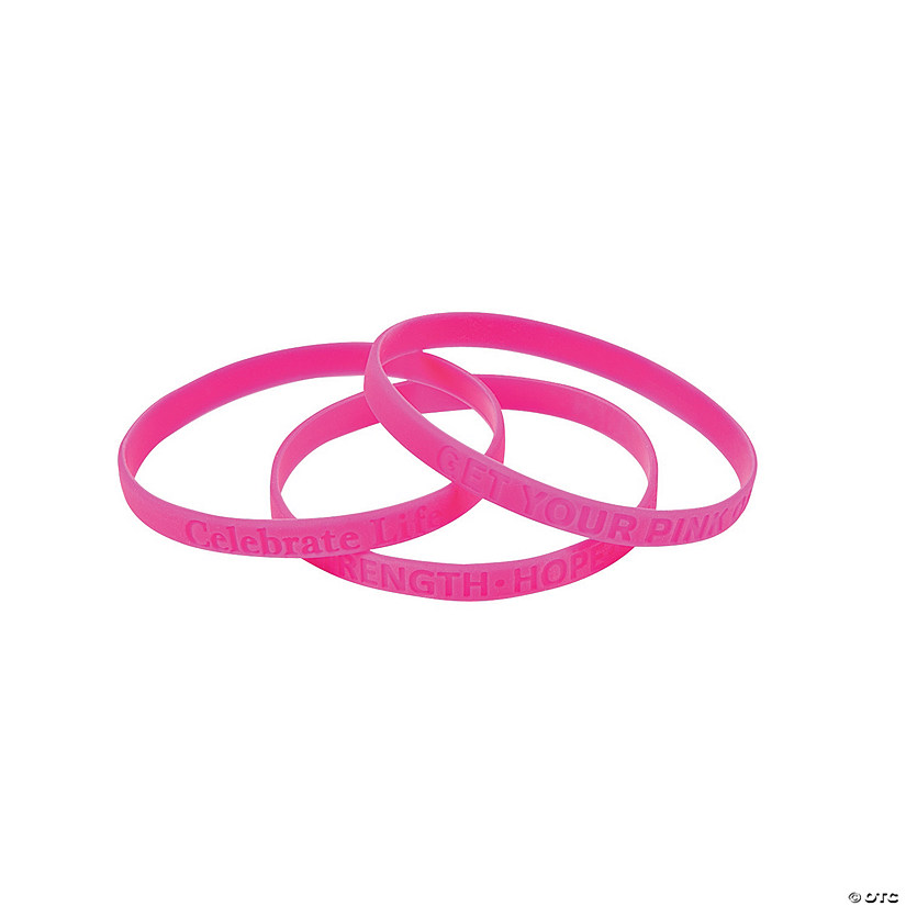 Thin Pink Ribbon Rubber Bracelets Audio Thumbnail