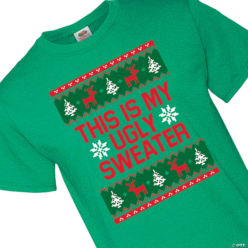 This Is My Ugly Sweater Adult's T-Shirt Audio Thumbnail