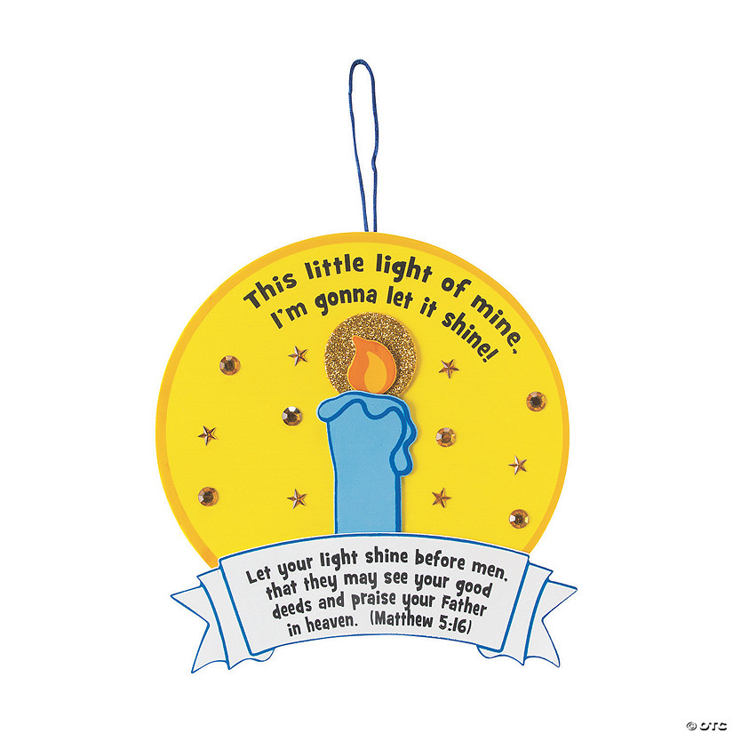 """This Little Light of Mine"" Sign Craft Kit"