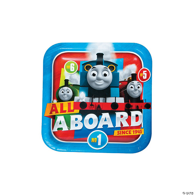 Thomas the Tank Engine & Friends™ Square Paper Dinner Plates - 8 Ct. Audio Thumbnail