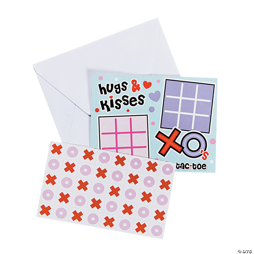 Tic-Tac-Toe Valentine's Day Sticker Cards Audio Thumbnail