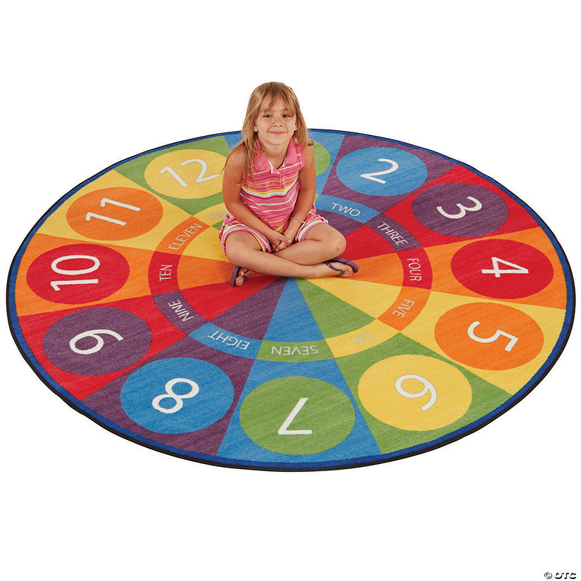 Tick-Tock Clock Activity Rug - 6ft Round Audio Thumbnail