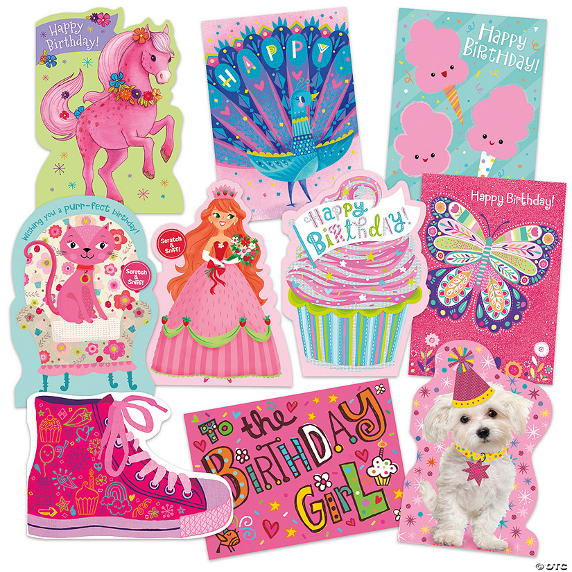 Tickled Pink 10 Birthday Card Assortment Pack Image Thumbnail
