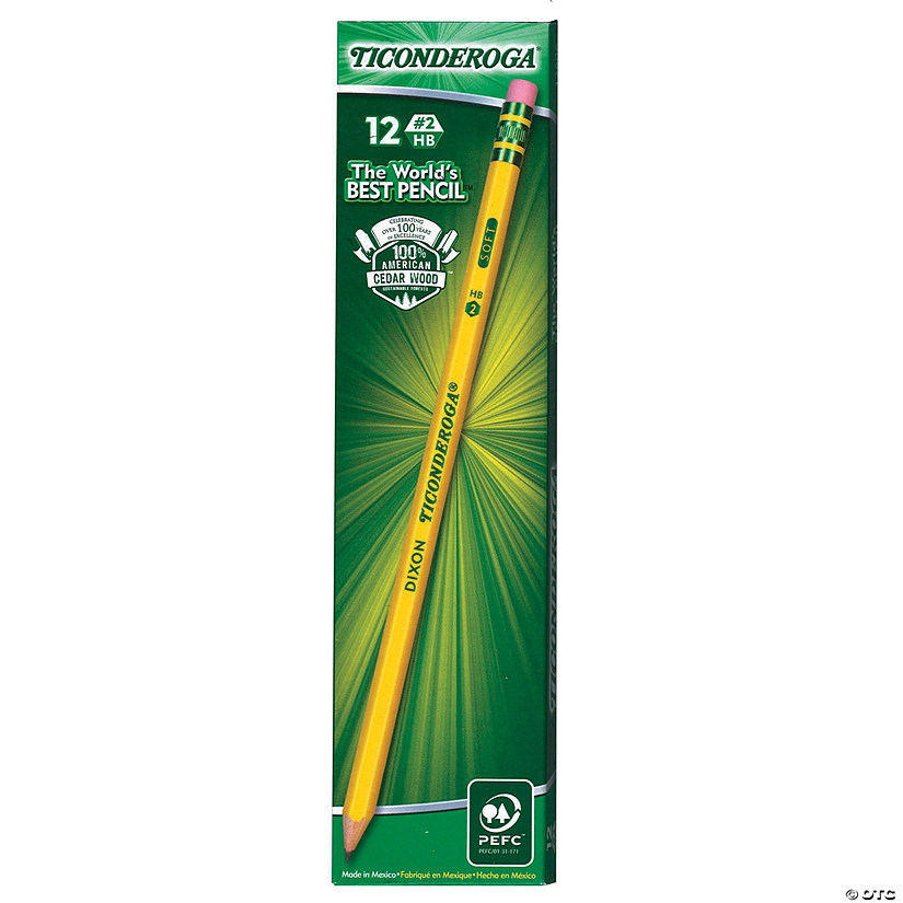 Ticonderoga® No. 2 Pencils, Sharpened, 12 pencils Per Box, 6 Boxes Audio Thumbnail