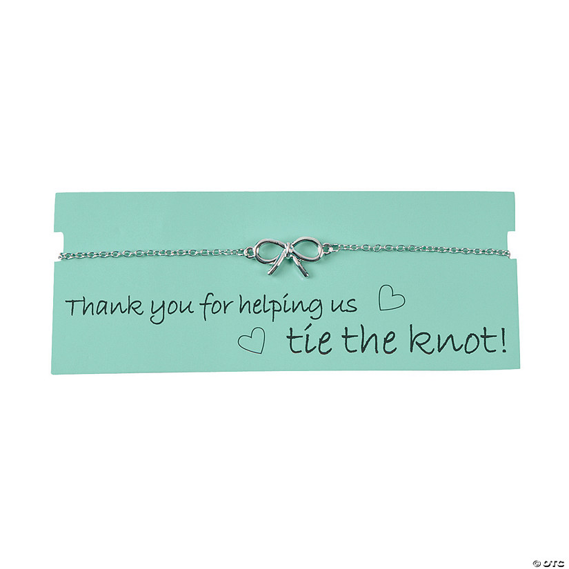 Tie the Knot Thank You Bracelet