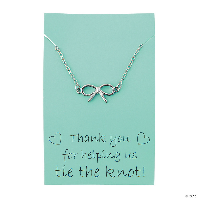 Tie the Knot Thank You Necklace