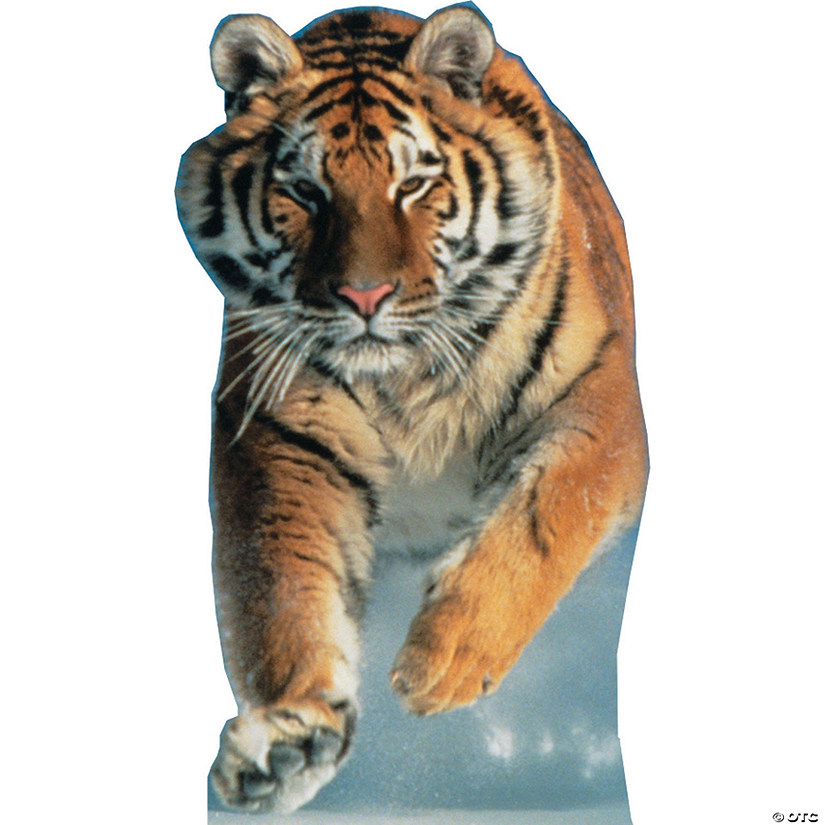 Tiger Snow Cardboard Stand-Up