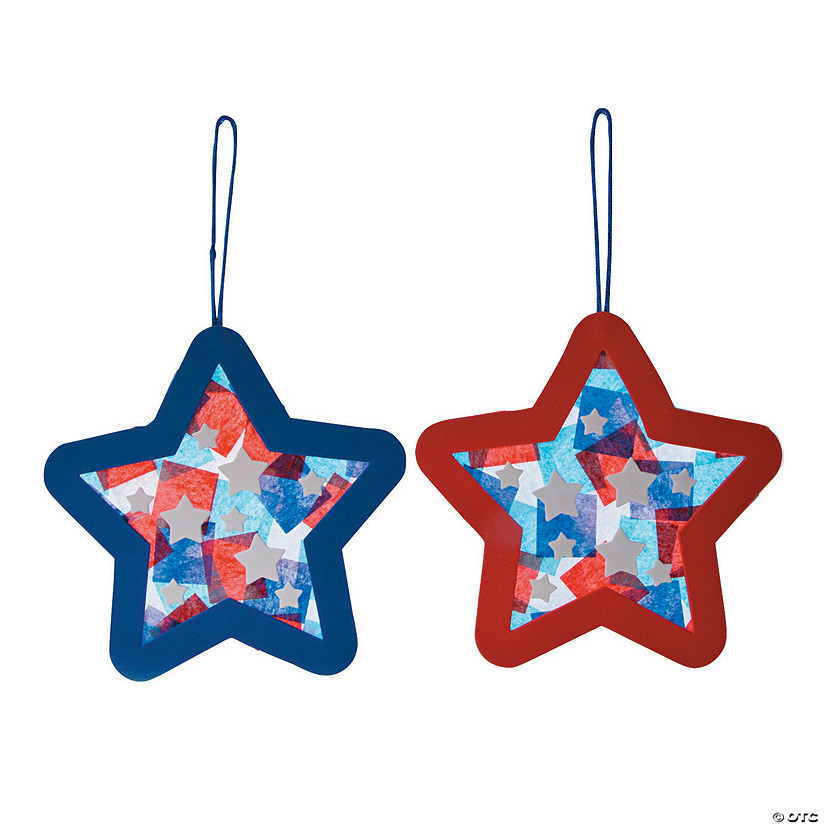 Tissue Paper Patriotic Star Ornament Craft Kit Image Thumbnail