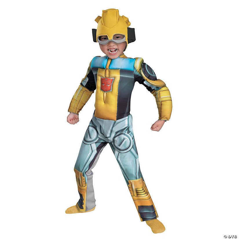 Toddler Boy's Muscle Chest Transformers™ Bumblebee Rescue Bot Costume - 3T-4T Audio Thumbnail