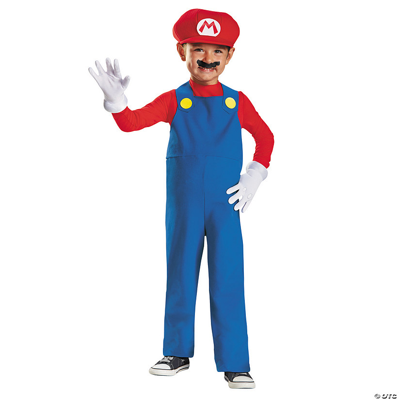 Toddler Boy's Super Mario Bros.™ Mario Costume - 3T-4T Audio Thumbnail