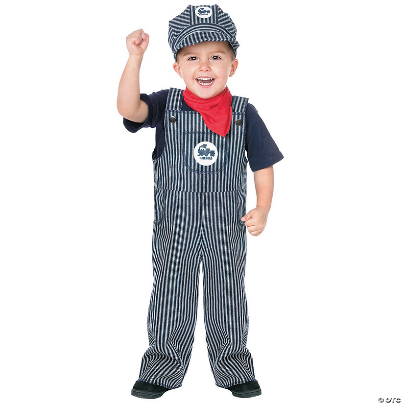 Toddler Boy's Train Engineer Costume Image Thumbnail
