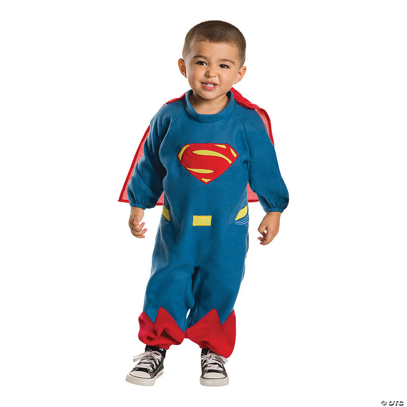 Toddler EZ-On Romper Superman Costume Image Thumbnail