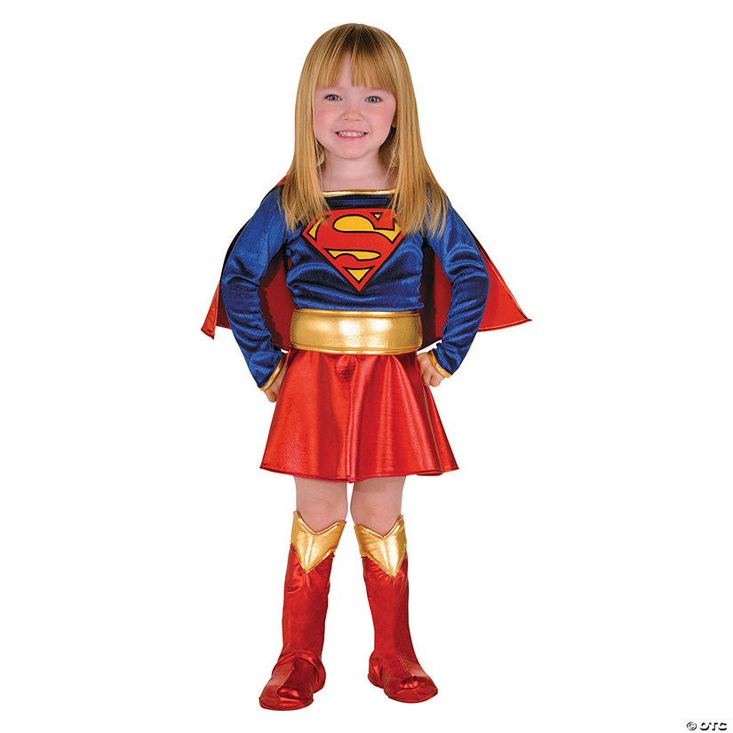 Toddler Girl's Deluxe Classic Supergirl™ Costume - 2T-4T Audio Thumbnail