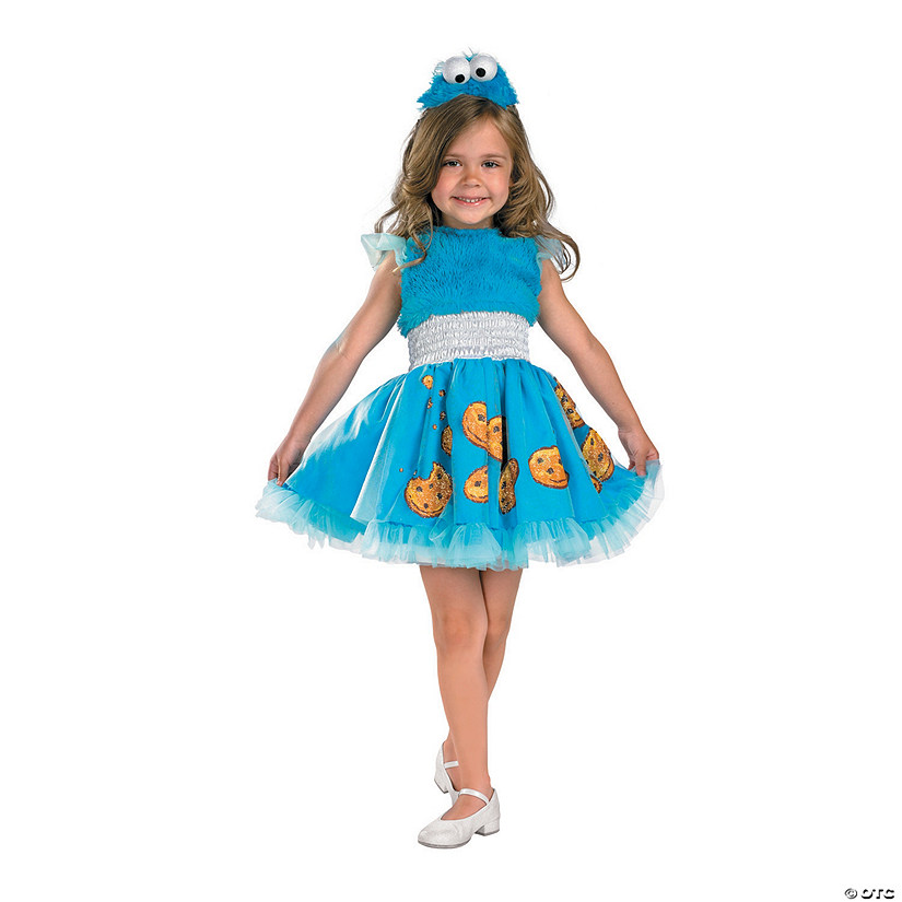 Toddler Girl's Frilly Sesame Street™ Cookie Monster Costume Audio Thumbnail