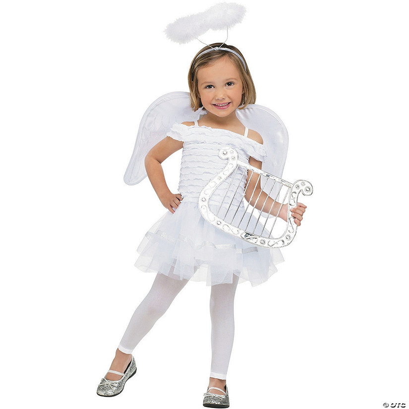 Toddler Girl's Little Angel Costume Audio Thumbnail