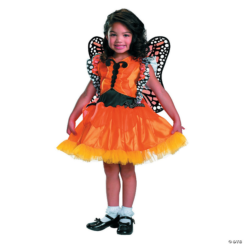 Toddler Girl's Magic Monarch Butterfly Costume