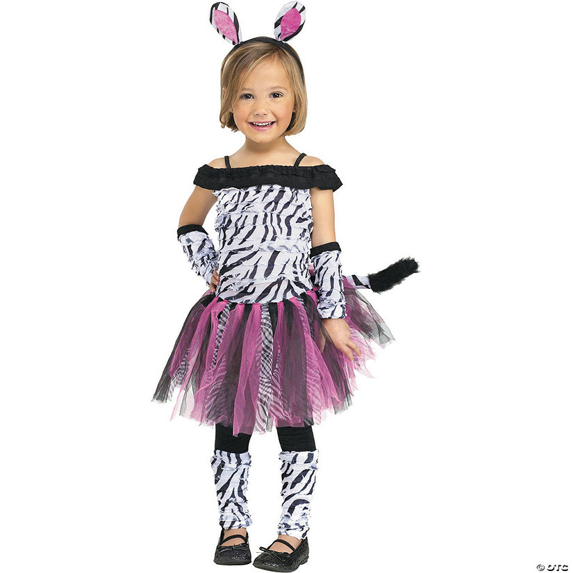 Toddler Girl's Zebra Costume - 3T-4T