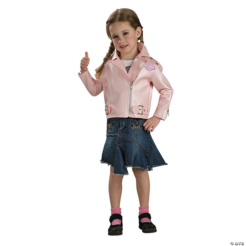 Toddler Girl's Pink Harley Davidson Jacket Costume