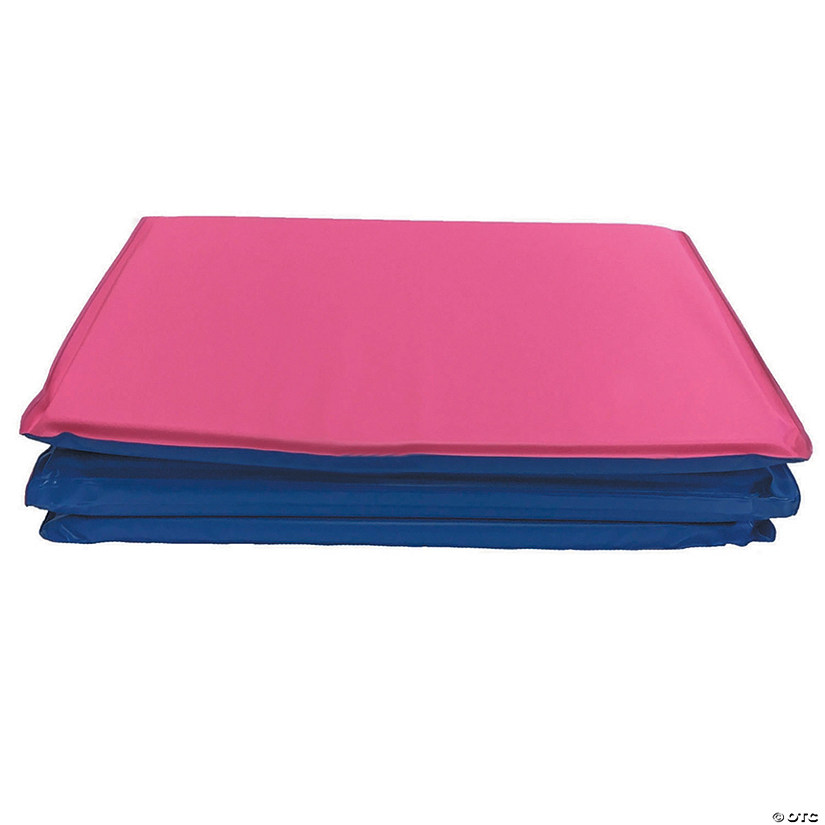 "Toddler KinderMat w/pillow, 3/4"" thick, Blue/Pink (No Pillow section) - Set of 2 mats"