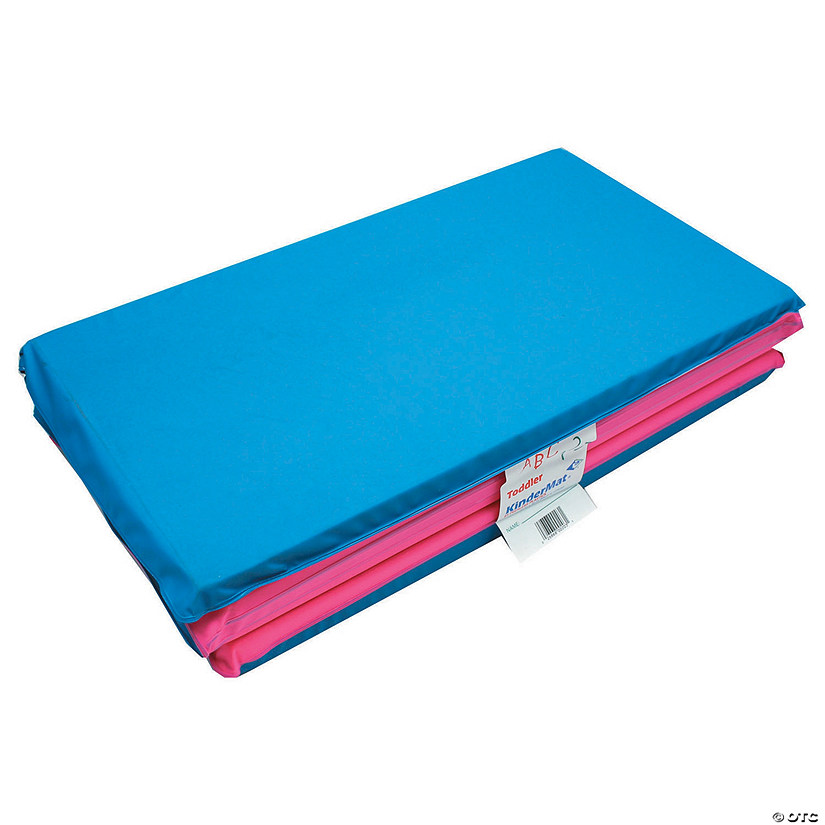 "Toddler KinderMat w/pillow, 3/4"" thick, Blue/Pink"