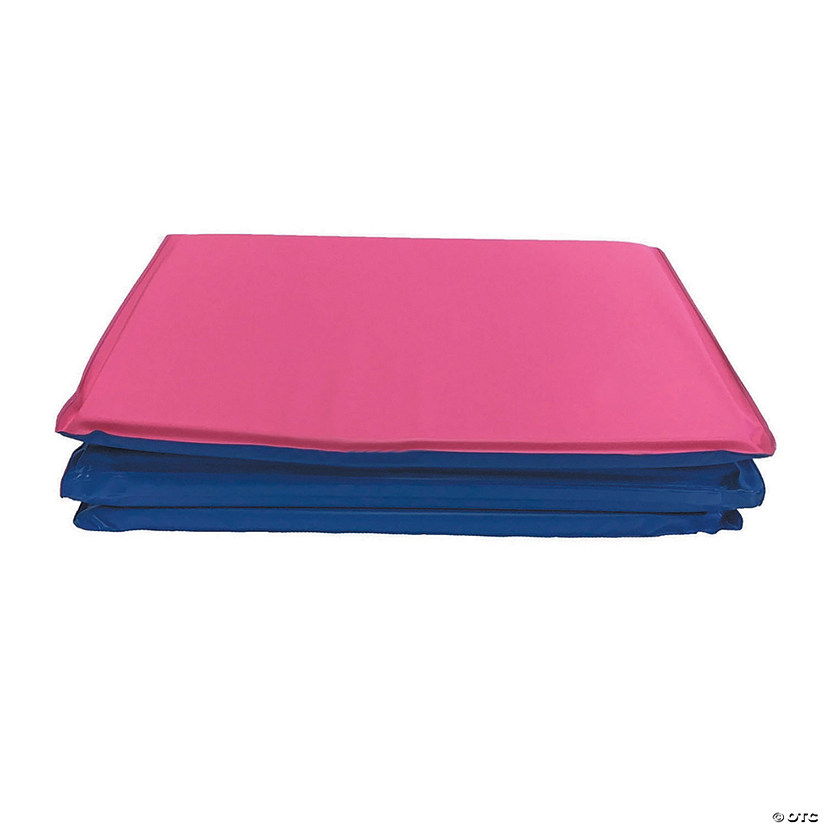 "Toddler KinderMat without Pillow, 3/4"" thick, Blue/Pink"