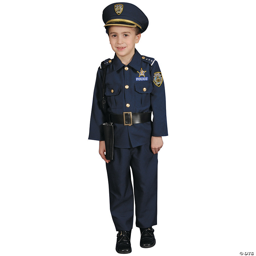 Toddler Police Officer Costume - 3T-4T Audio Thumbnail