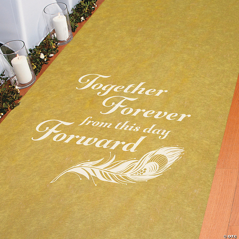 Together Forever Gold Aisle Runner