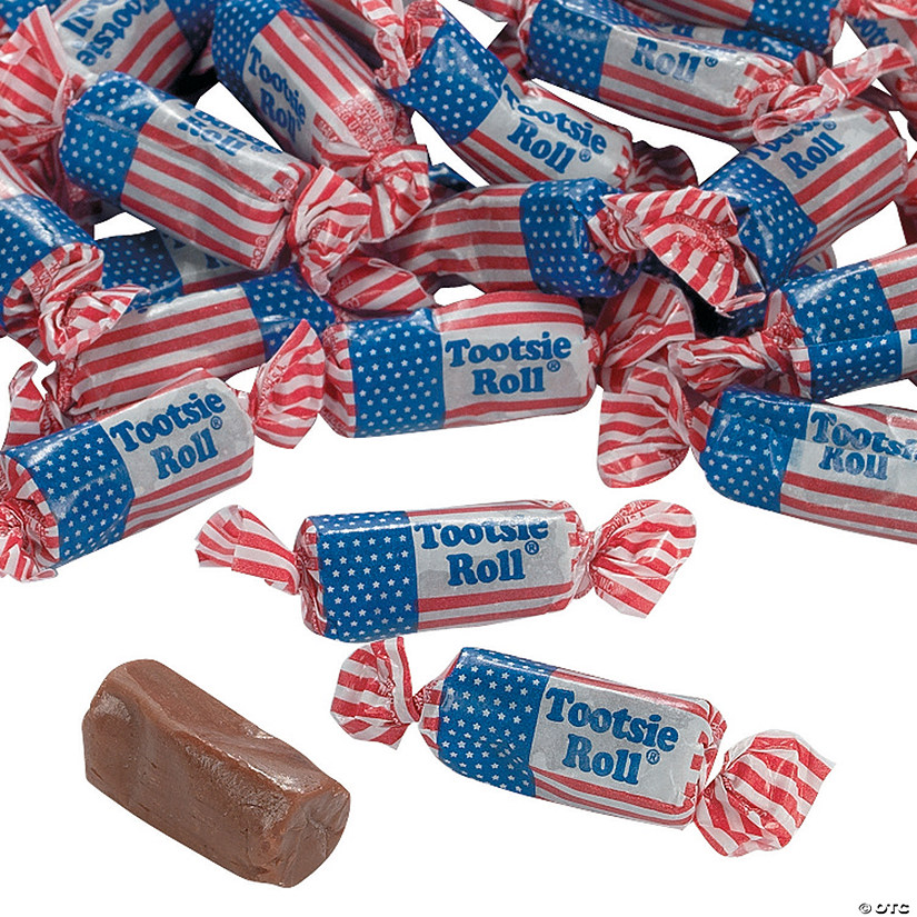 Tootsie Roll® USA Flag Midgees Chocolate Candy Image Thumbnail