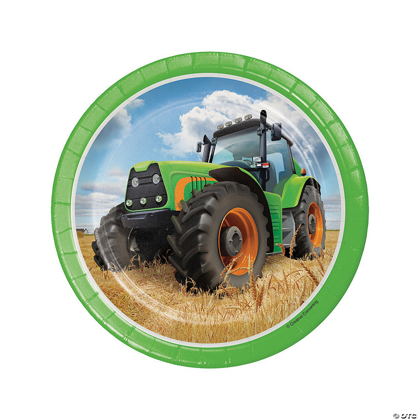 Tractor Party Paper Dessert Plates Audio Thumbnail