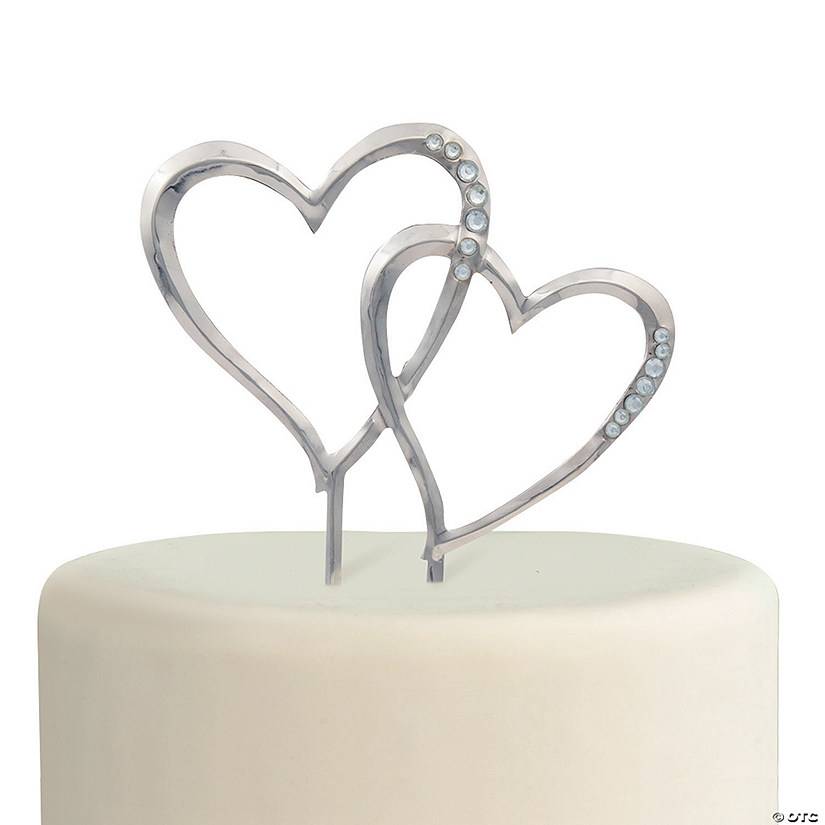 Traditional Hearts Cake Topper